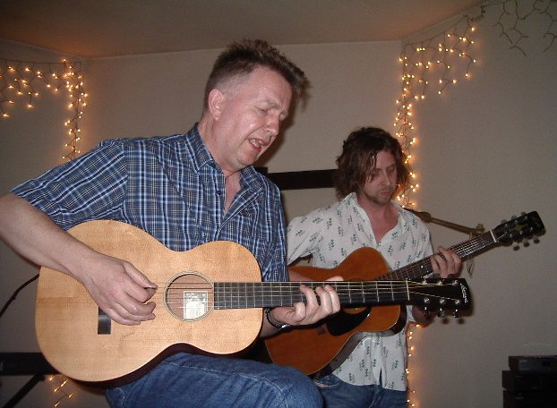 Tom Robinson & Adam Phillips, 6/11/04, photo by JD Doyle