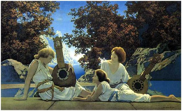 Maxfield Parrish - Lute Players