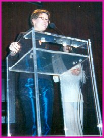 Catie at the GLAMA awards for 1999