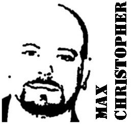 Max Christopher graphic, and behind, a shot at a Bearapalooza