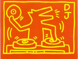 Keith Haring disco drawing