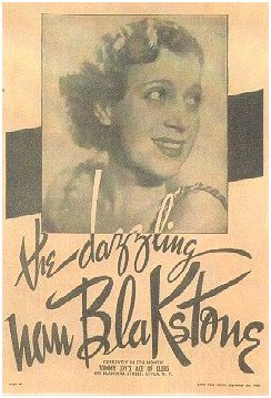flyer for the dazzling Nan Blakstone