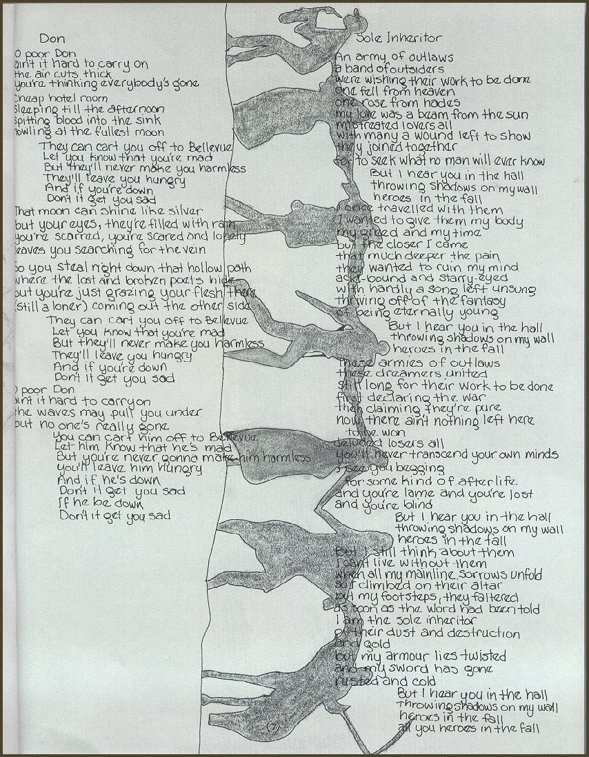 lyric booklet