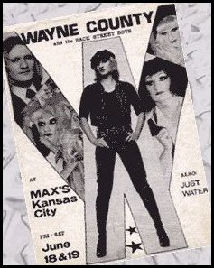 Wayne with her band, the Back Street Boys