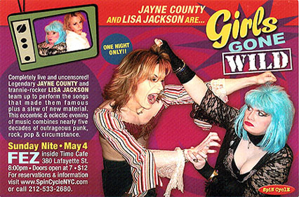 2003 poster for Jayne & Lisa show
