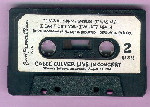 concert tape,  1974