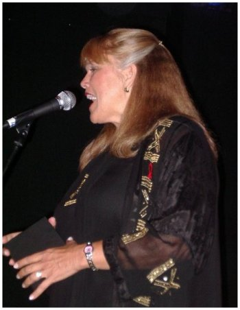 Marsha performing at the Outmusic Awards in June, 2004