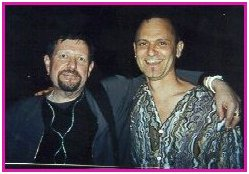 Tom Bogdan with Michael Biello, at the GLAMAs in 2000