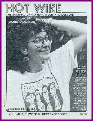 "Jamie on cover of ""Hot Wire,"" 1992"